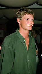 Polo player MR JACK KIDD, brother of model Jodie Kidd, at a party in London on 29th May 1997.LYW 8