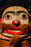 Tlingit tribal artifacts, Sitka National Historical Park, Sitka, Alaska USA.