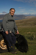 Roddy Napier the owner of West Point. This island farm has been in his family since 1860.<br /> West Point Island. Off of West Falkland. FALKLAND ISLANDS.