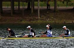 Boat of Bled - Dravske elektrarne (From Right: Pirih Tomaz, Rozman Rok, Kolander Rok and  Pirih Miha) at 49 th Prvomajska regata, on April 20, 2008, in Bled Lake, Slovenia.  (Photo by Vid Ponikvar / Sportal Images)./ Sportida)