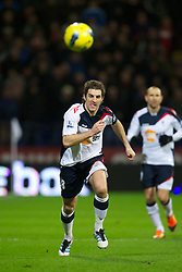 BOLTON, ENGLAND - Saturday, January 21, 2011: Bolton Wanderers' Sam Ricketts in action against Liverpool during the Premiership match at the Reebok Stadium. (Pic by David Rawcliffe/Propaganda)