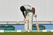 Ravichandran Ashwin of India is in discomfort after taking a quick run during the 4th day of the 4th SpecSavers International Test Match 2018 match between England and India at the Ageas Bowl, Southampton, United Kingdom on 2 September 2018.