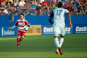 FRISCO, TX - JUNE 22:  Zach Loyd #17 of FC Dallas controls the ball against Sporting Kansas City on June 22, 2013 at FC Dallas Stadium in Frisco, Texas.  (Photo by Cooper Neill/Getty Images) *** Local Caption *** Zach Loyd
