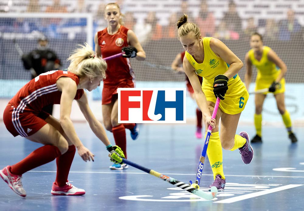 BERLIN - Indoor Hockey World Cup<br /> Quarterfinal 1: Belarus - Australia<br /> foto: McLEISH Emma.<br /> WORLDSPORTPICS COPYRIGHT FRANK UIJLENBROEK