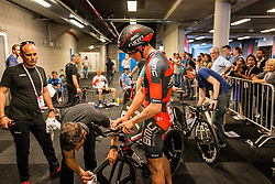 KUNG Stefan from Swiserland of BMC Racing Team (USA) before the start at velodrome Omnisport, stage 1 (ITT) from Apeldoorn to Apeldoorn running 9,8 km of the 99th Giro d'Italia (UCI WorldTour), The Netherlands, 6 May 2016. Photo by Pim Nijland / PelotonPhotos.com | All photos usage must carry mandatory copyright credit ( Peloton Photos | Pim Nijland)