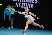 Tamara Zidansek of Slovenia in action during her second round match at the 2020 Australian Open, WTA Grand Slam tennis tournament on January 22, 2020 at Melbourne Park in Melbourne, Australia - Photo Rob Prange / Spain ProSportsImages / DPPI / ProSportsImages / DPPI