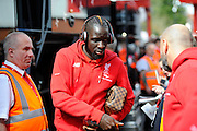 Liverpool defender Mamadou Sakho during the Barclays Premier League match between Bournemouth and Liverpool at the Goldsands Stadium, Bournemouth, England on 17 April 2016. Photo by Graham Hunt.
