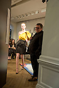 Alber Elbaz GIVING THE PRESENTATION, The Launch of the Lanvin store on Mount St. Presentation and cocktails.  London. 26 March 2009
