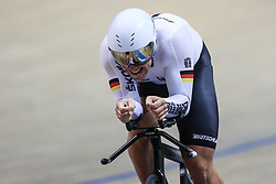March 1, 2019 - Pruszkow, Poland - Eric Engler (GER) - 1km time trial on day three of the UCI Track Cycling World Championships held in the BGZ BNP Paribas Velodrome Arena on March 01, 2019 in Pruszkow, Poland. (Credit Image: © Foto Olimpik/NurPhoto via ZUMA Press)