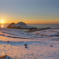 Amazing Winter Sunset Over snowy Puffin Island and Skelligs, County Kerry, Ireland ****** <br /> <br /> Visit &amp; browse through my Photography &amp; Art Gallery, located on the Wild Atlantic Way &amp; Skellig Ring between Waterville and Ballinskelligs (Skellig Coast R567), only 3 minutes from the main Ring of Kerry road.<br /> https://goo.gl/maps/syg6bd3KQtw<br /> <br /> ******<br /> <br /> Contact: 085 7803273 from an Irish mobile phone or +353 85 7803273 from an international mobile phone