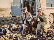 Keith Crowley's late father-in-law, Tom Tourville (left) after a Minnesota pheasant hunt, ca. 1989. Photo credit: Keith Crowley