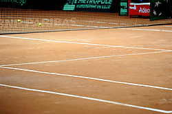 November 21, 2018 - France - Finale Coupe Davis 2018 - terrain terre battue bosse (Credit Image: © Panoramic via ZUMA Press)