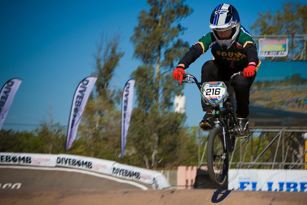 # 216 (DODD Kyle) RSA at the UCI BMX Supercross World Cup in Santiago del Estero, Argintina.