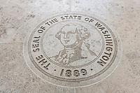 Close-up of The Seal of the State of Washington in Fort Bonifacio; Manila; Philippines