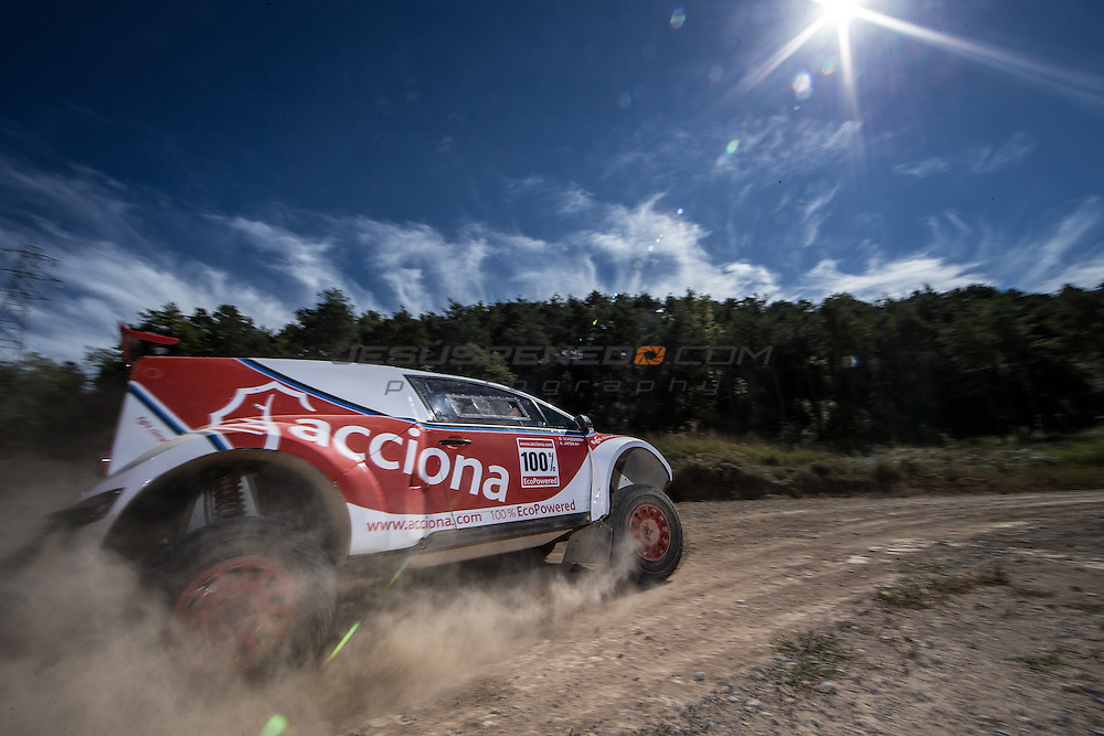 Acciona 100x100 ecopowered,electric car, Dakar 2016, Iquique,Chile