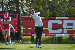 August 23, 2018 - Regina, SK, U.S. - REGINA, SK - AUGUST 23: Haeji Kang (KOR) watches her tee shot on 18 during the CP Women's Open Round 1 at Wascana Country Club on August 23, 2018 in Regina, SK, Canada. (Photo by Ken Murray/Icon Sportswire) (Credit Image: © Ken Murray/Icon SMI via ZUMA Press)