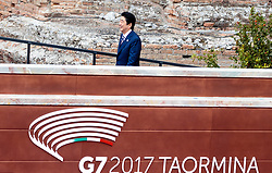 26.05.2017, Taormina, ITA, 43. G7 Gipfel in Taormina, EXPA/, im Bild Japans Premierminister Shinzo Abe // Japans Premierminister Shinzo Abe during the 43rd G7 summit in Taormina, Italy on 2017/05/26. EXPA Pictures © 2017, PhotoCredit: EXPA/ Johann Groder