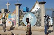 Port-au-Prince, Haiti.<br />Main cemetary of Port-au-Prince. Haiti, the western hemisphere's poorest country.