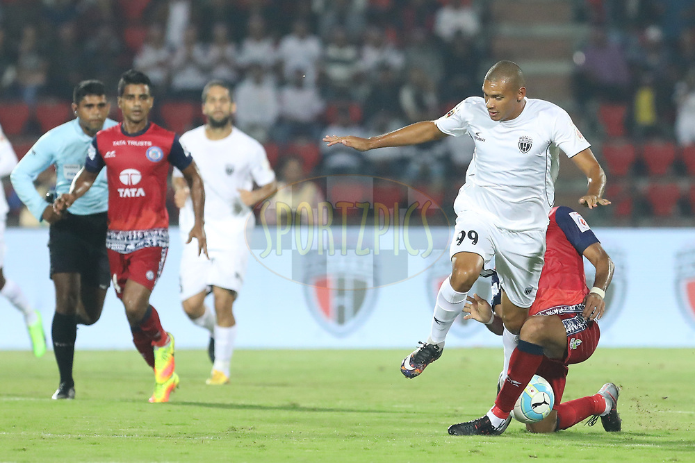 Danilo LOPES CEZARIO of Northeast United FC  in action during match 2 of the Hero Indian Super League between NorthEast United FC and Jamshedpur FC held at the Indira Gandhi Athletic Stadium, Guwahati India on the 18th November 2017<br /> <br /> Photo by: Arjun Singh  / ISL / SPORTZPICS