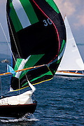 Vindex, S Class, sailing in the Robert H. Tiedemann Classic Yachting Weekend race 1.