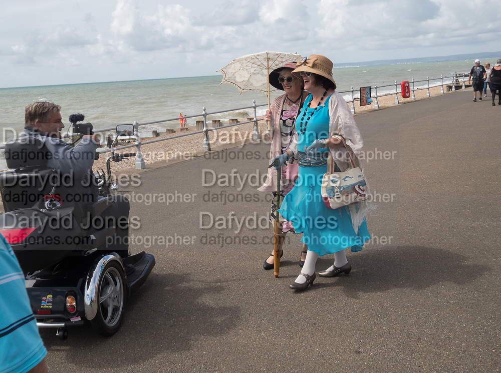 Seafront during the Charleston Dance Challenge, Bexhill on Sea. 22 July 2017