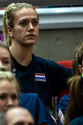 14-10-2018 JPN: World Championship Volleyball Women day 15, Nagoya<br /> China - United States of America 3-2 / Dutch team watch the game between China and USA, Maret Balkestein-Grothues #6 of Netherlands