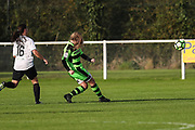 Forest Green Rovers Issy Newns(10) shoots at goal scores a goal 1-0 during the South West Womens Premier League match between Forest Greeen Rovers Ladies and Marine Academy Plymouth LFC at Slimbridge FC, United Kingdom on 5 November 2017. Photo by Shane Healey.