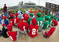 Colby field was full of enthusiastic ball players as the 2012 season for Laconia Little League was celebrated with opening day ceremonies Saturday morning followed by games.  (Karen Bobotas/for the Laconia Daily Sun)