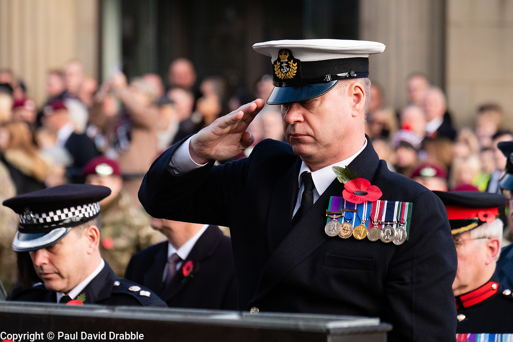 Remembrance Sunday Barnsley Wreath Laying<br /> <br />  Copyright Paul David Drabble<br />  10 November 2019<br />  www.pauldaviddrabble.co.uk