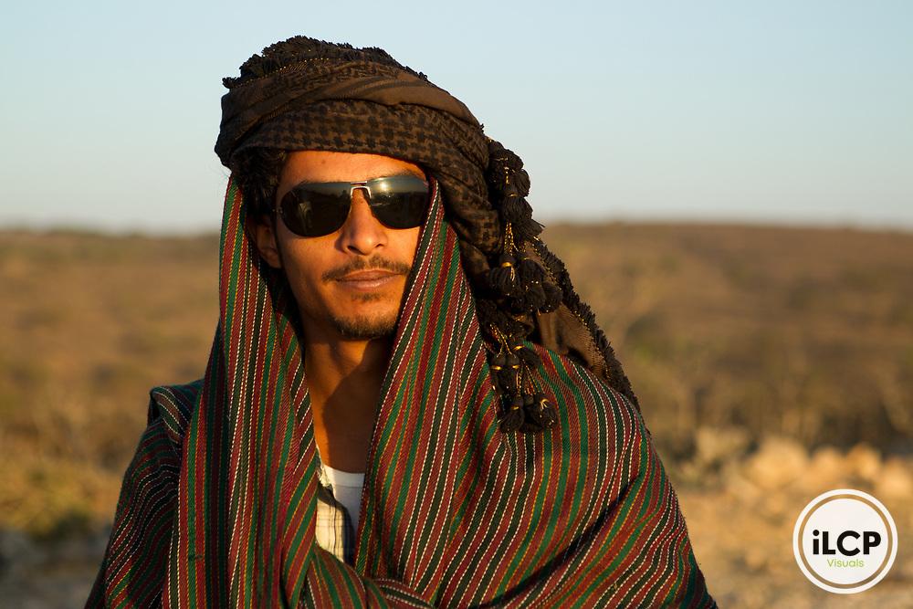 Man wearing keffiyeh, Dhofar Mountains, Oman