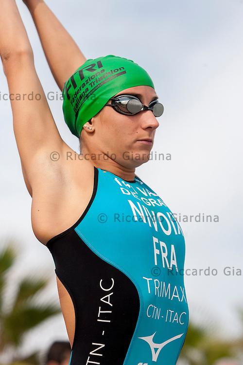Catania (ITA), 25/10/15  - Julie Nivoix (FRA) at 2015 Catania ETU Triathlon European Cup and Mediterranean Championships, Elite Women Race  (Ph. Riccardo Giardina)