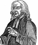 John Wesley (1703-1791) English non-conformist preacher. Founder of  Methodism. Woodcut 1832.