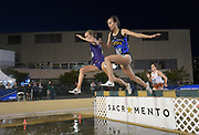 May 24, 2019; Sacramento, CA, USA; Rachel King of South Dakota State wins women's steeplechase heat in 9:50.15 during the NCAA West Preliminary at Hornet Stadium.