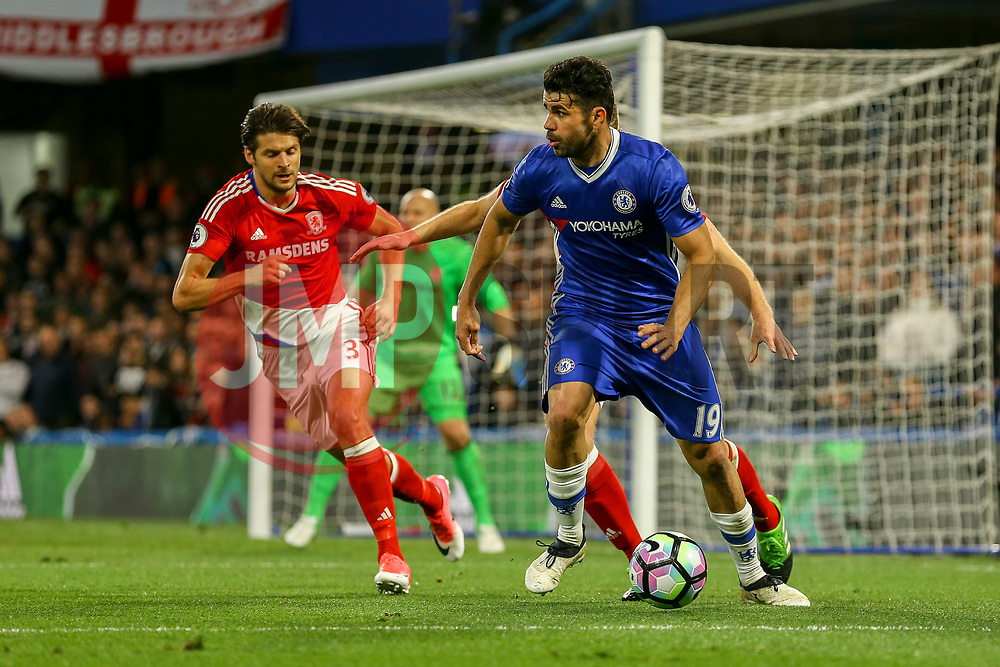 Diego Costa of Chelsea in action - Mandatory by-line: Jason Brown/JMP - 08/05/17 - FOOTBALL - Stamford Bridge - London, England - Chelsea v Middlesbrough - Premier League