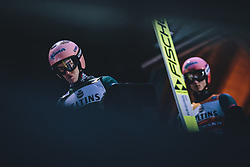 17.01.2020, Hochfirstschanze, Titisee Neustadt, GER, FIS Weltcup Ski Sprung, im Bild Stefan Kraft (AUT), Karl Geiger (GER) // Stefan Kraft of Austria Karl Geiger of Germany during the FIS Ski Jumping World Cup at the Hochfirstschanze in Titisee Neustadt, Germany on 2020/01/17. EXPA Pictures © 2020, PhotoCredit: EXPA/ JFK