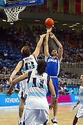 ATENE, 28 AGOSTO 2004<br /> OLIMPIADI ATENE 2004<br /> BASKET FINALE<br /> ITALIA - ARGENTINA<br /> NELLA FOTO: MATTEO SORAGNA<br /> FOTO CIAMILLO
