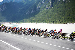 The peloton approach the final climb during Stage 9 of 2019 Giro Rosa Iccrea, a 125.5 km road race from Gemona to Chiusaforte, Italy on July 13, 2019. Photo by Sean Robinson/velofocus.com