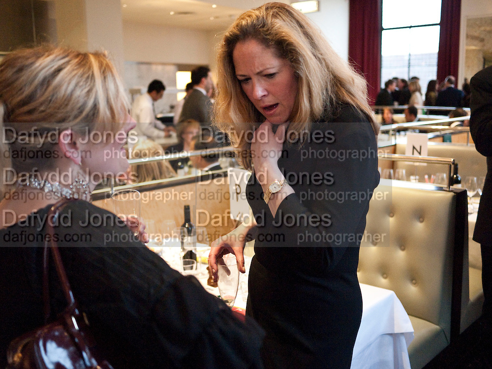 CRESSIDA COWELL; KATHRYN DAVIDSON, Literary charity First Story fundraising dinner. Cafe Anglais. London. 10 May 2010. *** Local Caption *** -DO NOT ARCHIVE-© Copyright Photograph by Dafydd Jones. 248 Clapham Rd. London SW9 0PZ. Tel 0207 820 0771. www.dafjones.com.<br /> CRESSIDA COWELL; KATHRYN DAVIDSON, Literary charity First Story fundraising dinner. Cafe Anglais. London. 10 May 2010.