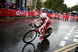 Tatiana Sharakova (BLR) at UCI Road World Championships 2019 Elite Women's TT a 30.3 km individual time trial from Ripon to Harrogate, United Kingdom on September 24, 2019. Photo by Sean Robinson/velofocus.com
