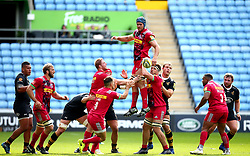 James Horwill of Harlequins wins the ball from the line out - Mandatory by-line: Robbie Stephenson/JMP - 17/09/2017 - RUGBY - Ricoh Arena - Coventry, England - Wasps v Harlequins - Aviva Premiership