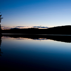 After sunset on Long Pond in Lempster, New Hampshire.