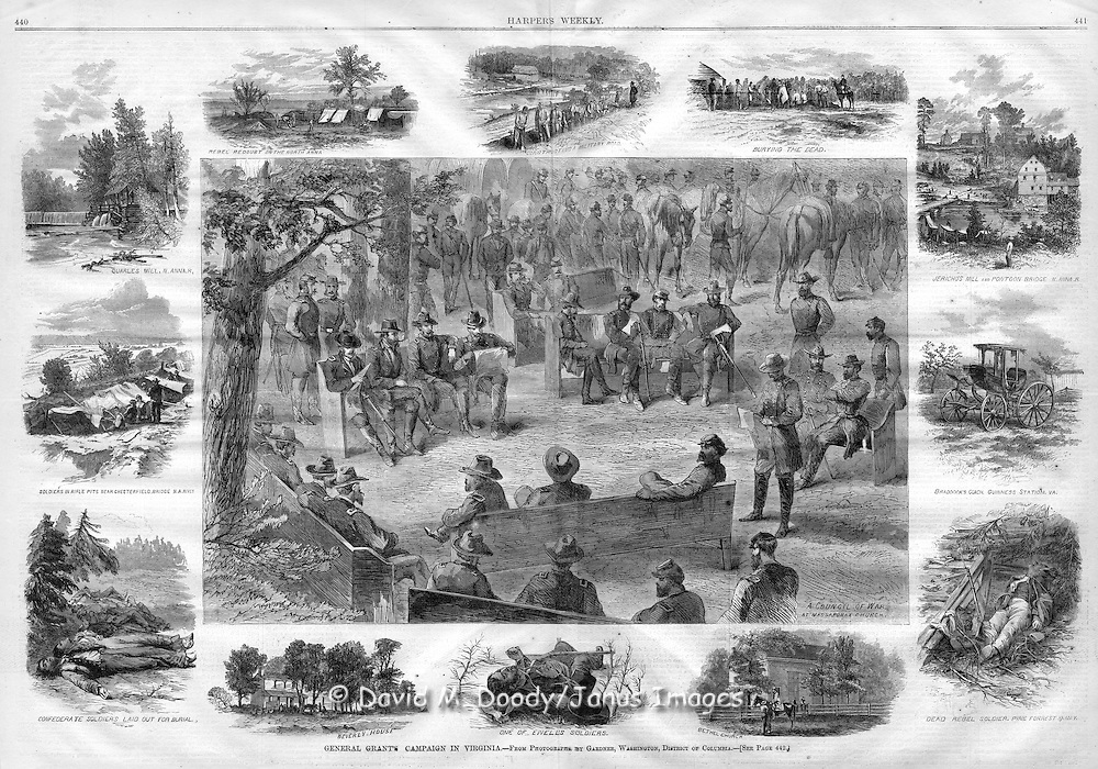 Grant's Army campaign in Virginia. Harper's Weekly 1864