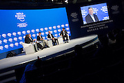 (l-r) Mariette DiChristina, Tom Mitchell, Yuichiro Anzai, Stuart Russell, Dileep George at the World Economic Forum - Annual Meeting of the New Champions in Dalian, People's Republic of China 2015. Copyright by World Economic Forum / Greg Beadle