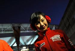 15.06.2010, Ellis Park, Johannesburg, RSA, FIFA WM 2010, Brasilien vs Nordkorea im Bild eine hübsche Nordkoreanerin die ihre Mannschaft unterstützt, EXPA Pictures © 2010, PhotoCredit: EXPA/ InsideFoto/ G. Perottino, ATTENTION! FOR AUSTRIA AND SLOVENIA ONLY!!! / SPORTIDA PHOTO AGENCY