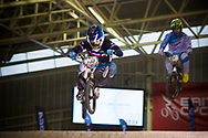 #151 (MAHIEU Romain) FRA at the 2014 UCI BMX Supercross World Cup in Manchester.