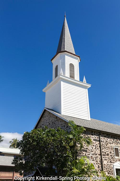 HI00450-00...HAWAI'I - Mokuaikaua Church in Aloha Kona along the Kailua-Kona Coast on the Island of Hawai'i.