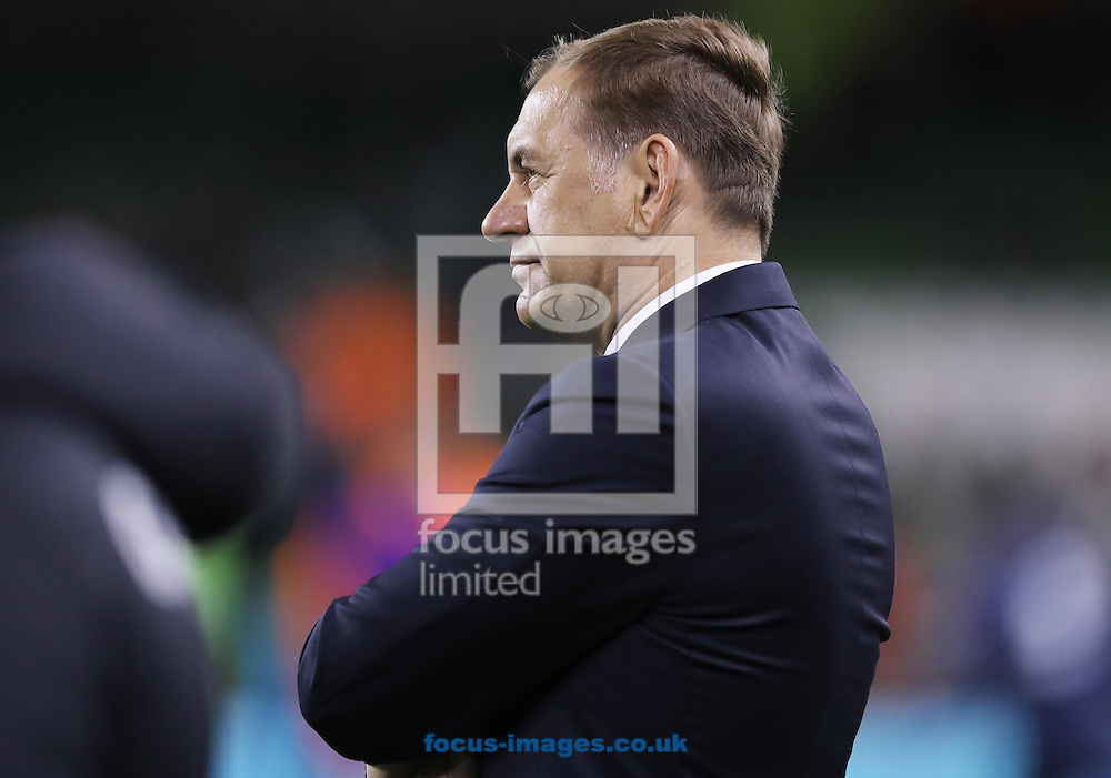 Vladimir Weiss Georgia manager during the 2018 FIFA World Cup Qualifying match at the Aviva Stadium, Dublin<br /> Picture by Lorraine O'Sullivan/Focus Images Ltd +353 872341584<br /> 06/10/2016