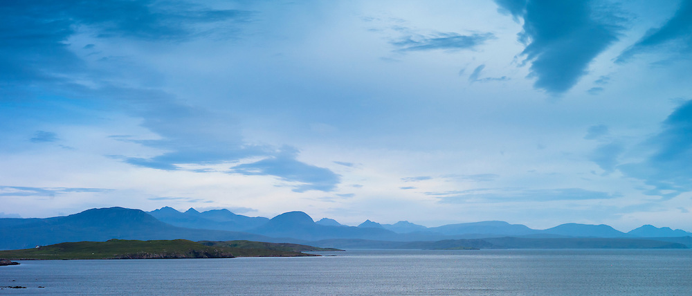Breathtaking Scottish landscape with sea loch and mountains in the western hIghlands of Scotland