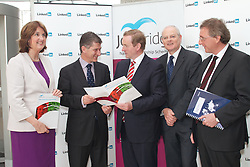 Three in five JobBridge interns secure employment.Independent evaluation demonstrates internship scheme among the most successful in Europe...Three in five participants in JobBridge - the national internship scheme - secure employment following their internship, according to an independent evaluation published today (May 1st) by Taoiseach Enda Kenny and Minister for Social Protection Joan Burton. ..Pictured at the launch were;.Minister for Social Protection, Joan Burton. .Ari Emanuel, LinkedIn..Taoiseach Enda Kenny. .Martin Murphy,Chair of the JobBridge National Steering Committee and Managing Director of HP Ireland..Alan Gray, Indecon Economic Consultants....The evaluation, conducted by Indecon Economic Consultants, shows that 61% of interns progress to paid employment after completing their internship. ..The 61% progression rate for JobBridge is among the best in Europe, where progression rates for similar internship schemes average just 34% . ..The evaluation report also found that:.?.96% of host organisations would recommend JobBridge to another employer.?.89% of interns stated that JobBridge had given them new skills.?.Interns found that they also benefitted from: .o.an increase in their self-confidence.o.the opportunity to gain quality work experience.o.the opportunity to establish a network of contacts..The Taoiseach and Minister Burton jointly launched the report at the offices of LinkedIn in Dublin. LinkedIn, the world's largest professional network with more than 200 million members, is among the companies which have benefitted from JobBridge, hosting interns who later progressed to full-time employment with the company. ..Welcoming the findings of the report, the Taoiseach said: ?The Government has an ambitious plan to modernise and improve our work activation services as part of our Pathways to Work strategy. JobBridge was a key early scheme to help deliver on this agenda. It is now clear that JobBridge is delivering for thousands of jobseekers by provid