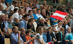 10.06.2015, Olympiahalle, Innsbruck, AUT, EHF Euro Qualifikation, Gruppe 7, Österreich vs Spanien, im Bild Fans // during the EHF Euro Qualifikation group 7 match between Austria and Spain at Olympiahalle, Innsbruck, Austria on 2015/06/10. EXPA Pictures © 2015, PhotoCredit: EXPA/ Jakob Gruber